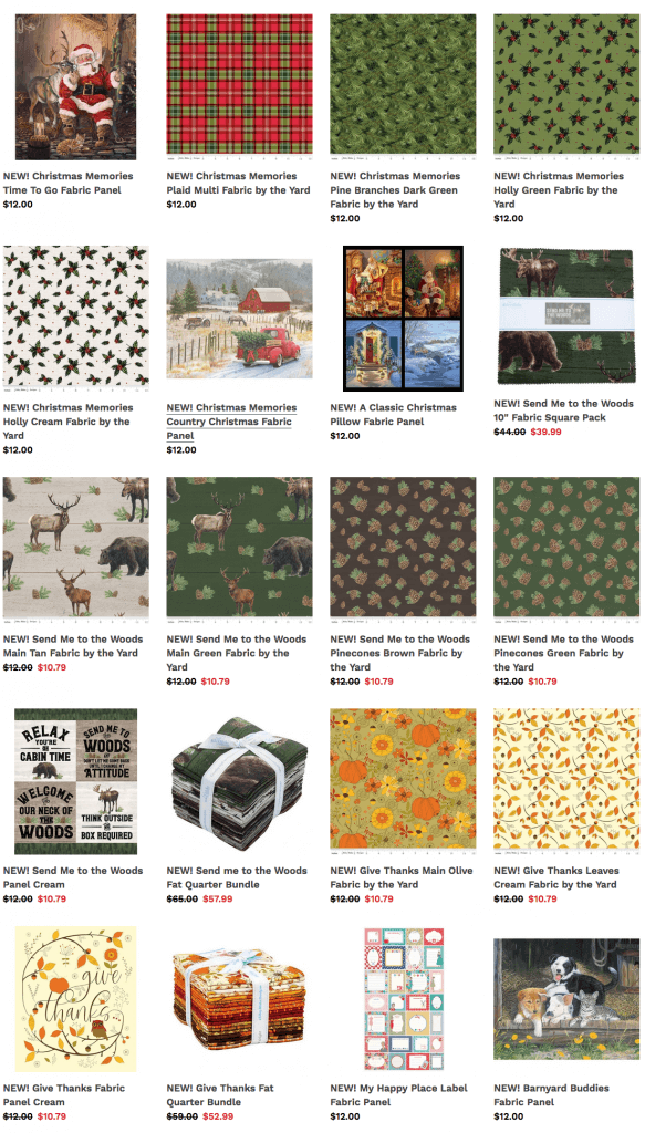 Buy Holiday Quilting Cotton Fabrics at ShopNZP.com