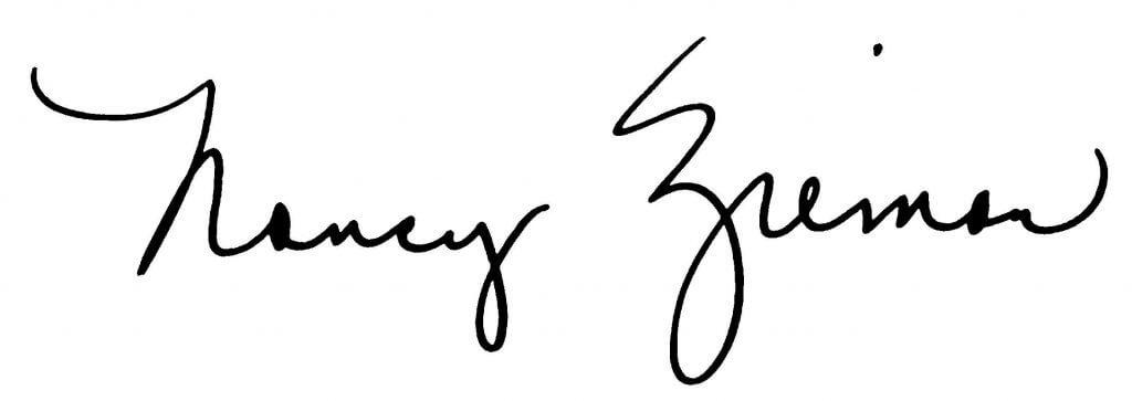 Nancy Zieman's Signature at The Nancy Zieman Productions Blog at NancyZieman.com