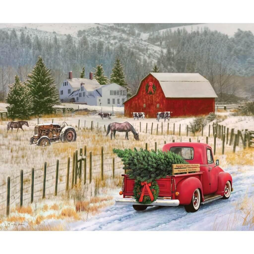 NEW! Christmas Memories Country Christmas Fabric Panel