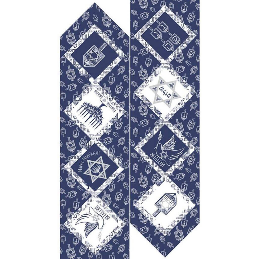 NEW! Festival of Lights Table Runner Silver Sparkle Panel available at ShopNZP.com
