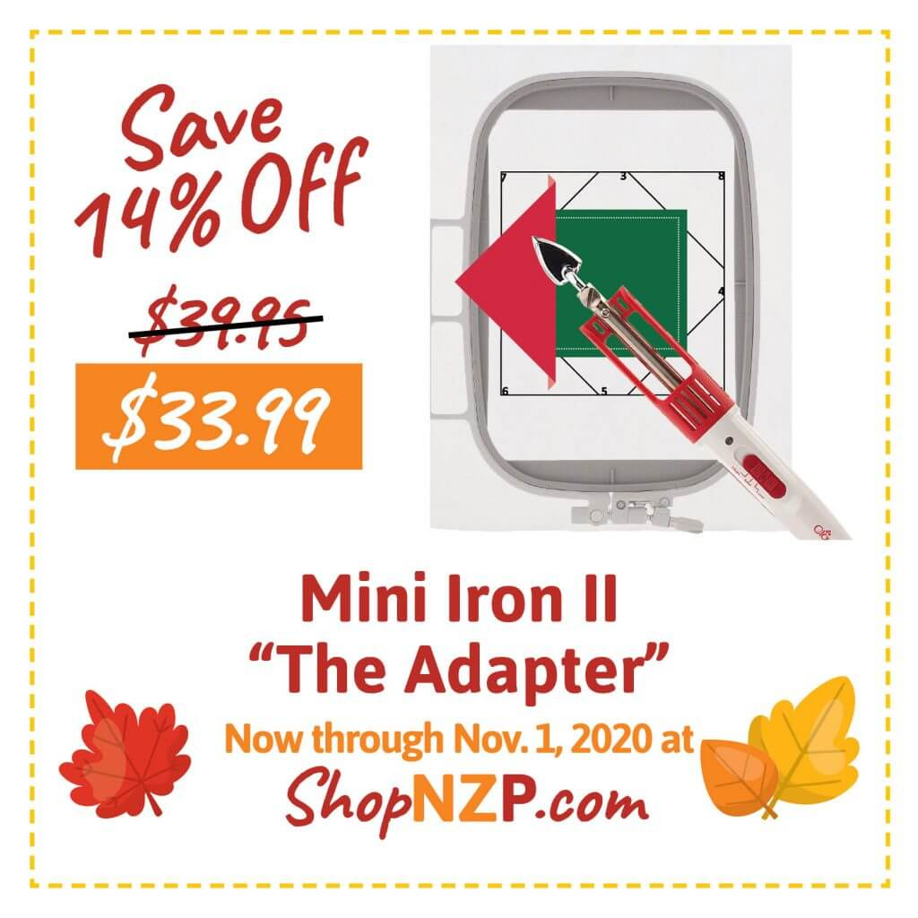 Sale at ShopNZP.com Save 14 Percent Off Mini Iron II The Adapter