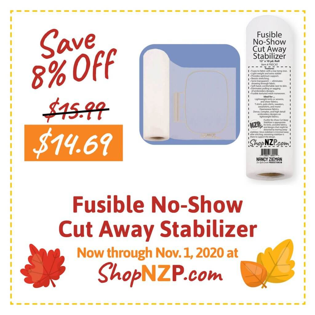 Sale at ShopNZP.com Save 8 Percent Off Fusible No-Show Mesh Stabilizer