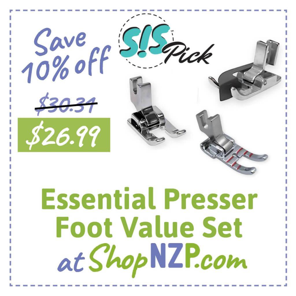 Save 10 Percent Off Essential Presser Foot Value Set at ShopNZP.com