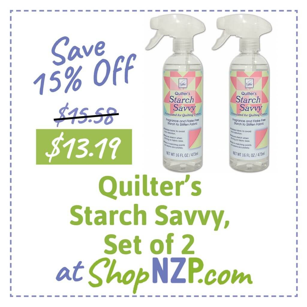 Save 15 Percent Off Quilters Starch Savvy Set of 2 at ShopNZP