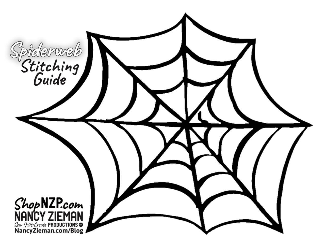 Spiderweb Stitching Guide at the Nancy Zieman Productions Blog
