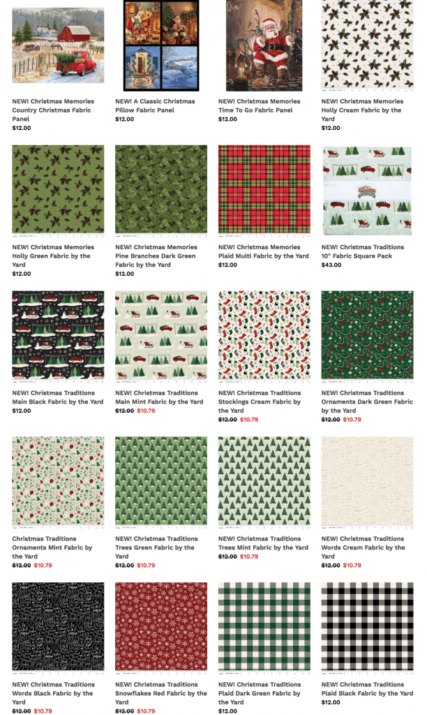 Limited Holiday Fabrics at ShopNZP.com!