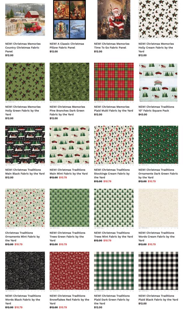Limited Holiday Fabrics at ShopNZP.com!