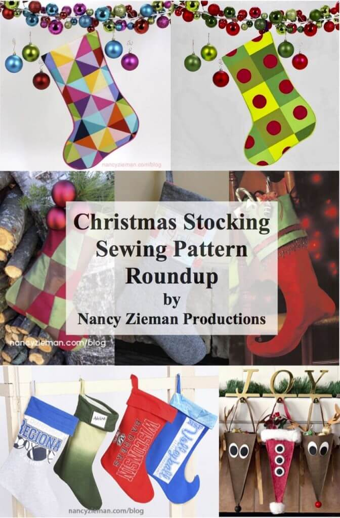 Christmas Stocking Sewing Pattern Round Up at the Nancy Zieman Productions Blog