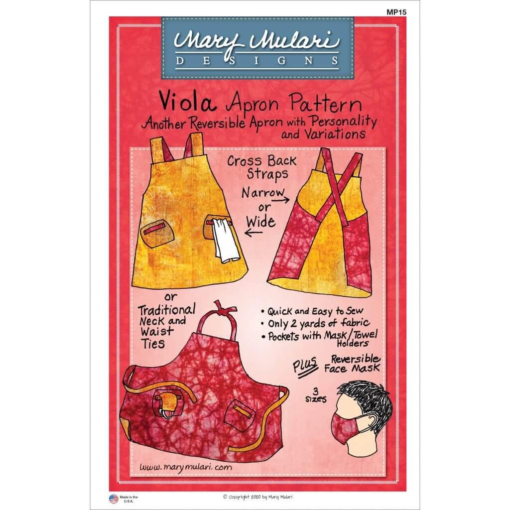 Mary Mulari's Viola Apron Pattern Available at Nancy Zieman Productions at ShopNZP.com