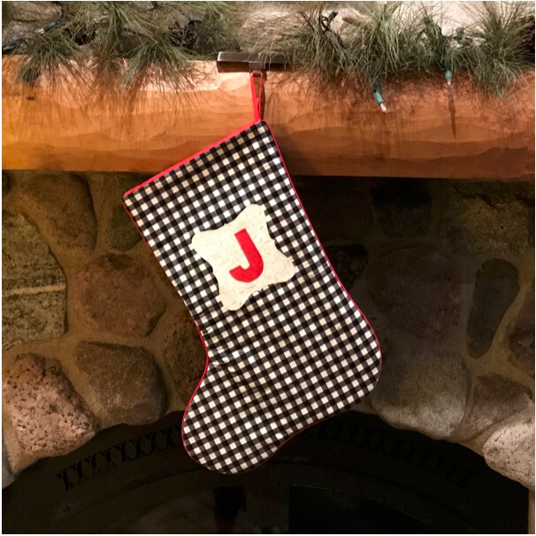 NEW! 2020 Monogrammed Christmas Stocking Sewing Tutorial by at the Nancy Zieman Productions Blog
