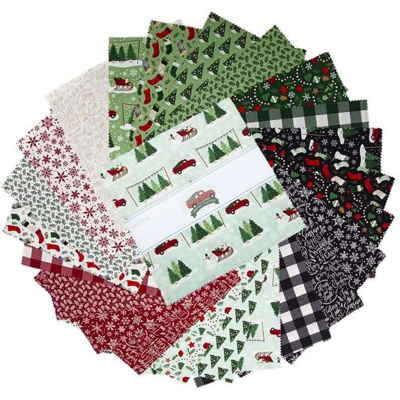 Christmas Traditions 10 in. Stackers Precut Fabric Square available at Nancy Zieman Produtions at ShopNZP.com