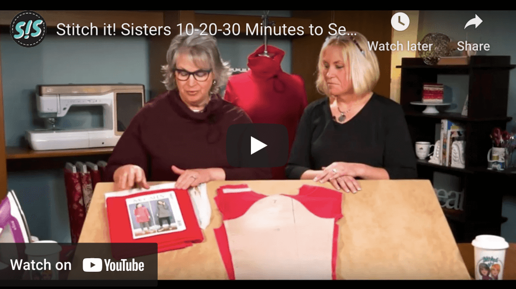 10 20 30 Minutes to Sew a Tunic by The Stitch it Sisters at The Nancy Zieman Productions Blog