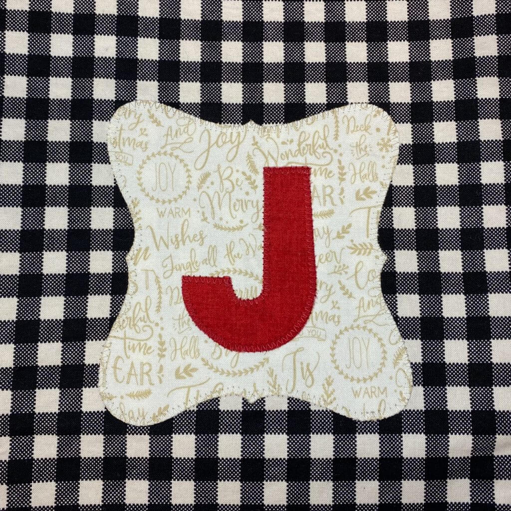 NEW! Monogrammed Christmas Stocking Sewing Tutorial by The Stitch it! Sisters