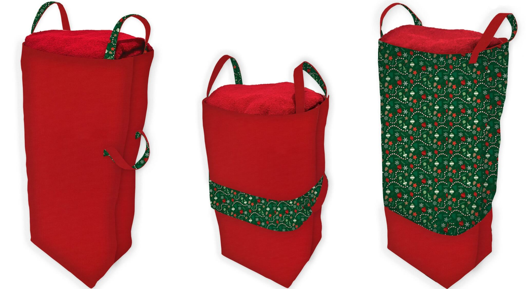 Christmas Traditions Big Bigger Santa Bag Sewing Tutorial at the Nancy Zieman Productions Blog