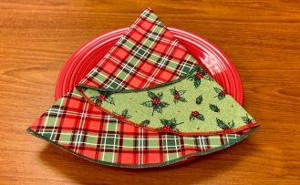 Christmas Tree Napkin Sewing Tutorial at The Nancy Zieman Productions Blog