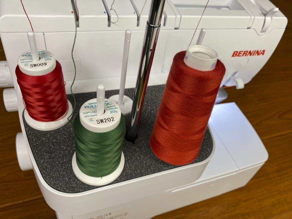 30-Minute Christmas Tree Serger Napkin Sewing Tutorial