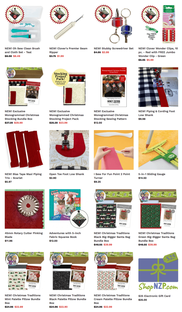 Find Sewing Tools and Quilting Supplies and Quality Sewing Fabrics and Sewing Project Bundle Boxes at Nancy Zieman Productions at ShopNZP.com