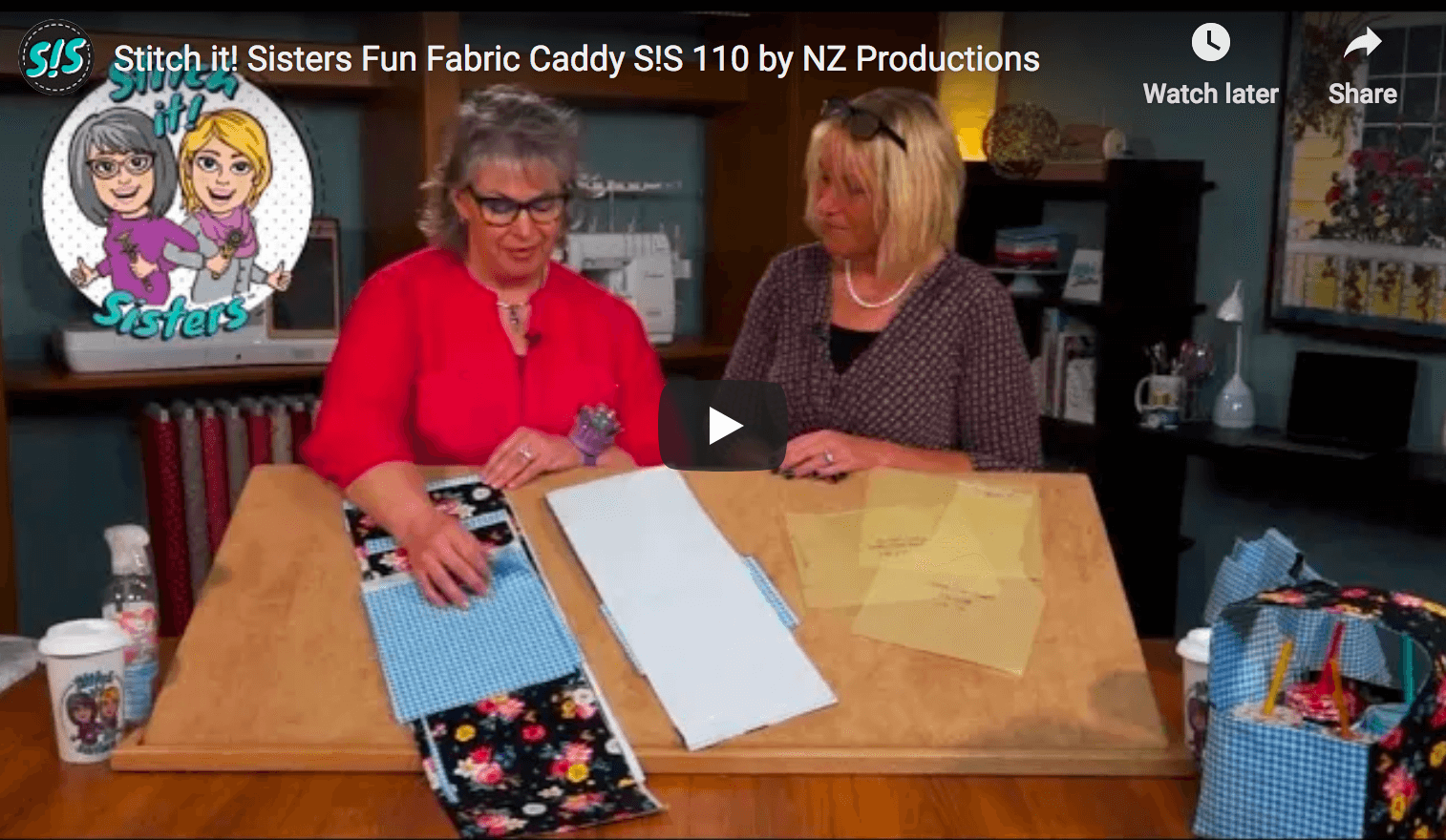 Fun Fabric Caddy Sewing Tutorial by the Stitch it Sisters at The Nancy Zieman Productions Blog