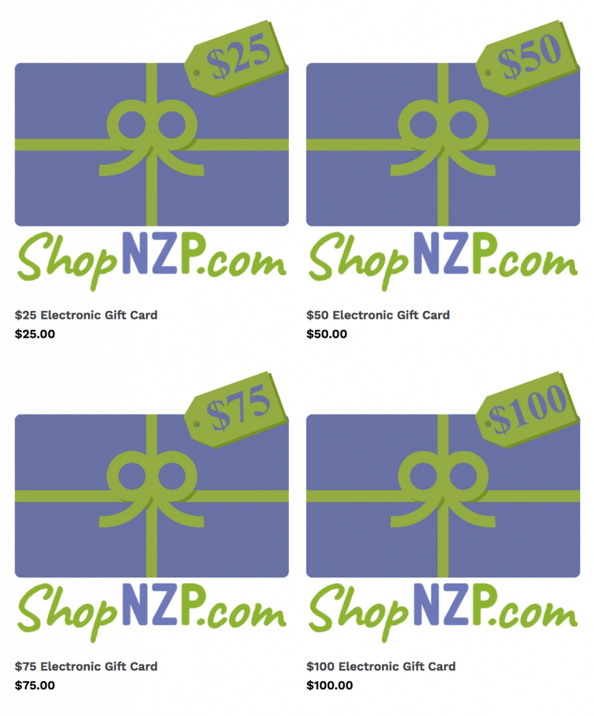 Nancy Zieman Productions Gift Cards Gift Certificates available at Nancy Zieman Productions at ShopNZP.com