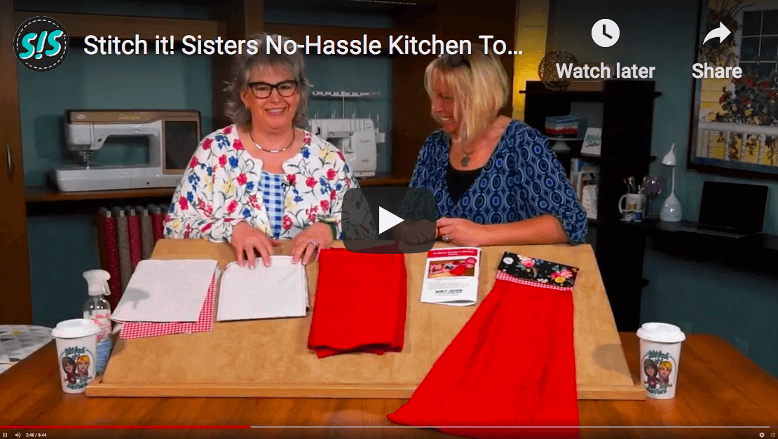 No-Hassle Kitchen Towel Topper Sewing Tutorial by The Stitch it Sisters at The Nancy Zieman Productions Blog