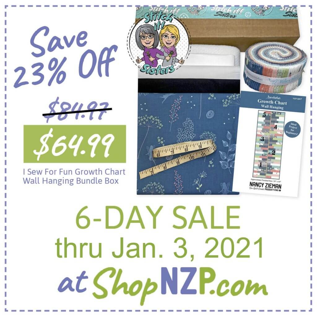 Sale at ShopNZP Save 23 Percent Off I Sew For Fun Growth Chart Wall Hanging Bundle Box
