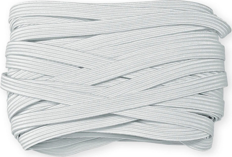 "1/4"" White Braided Elastic, 15 yd. Pack Available at Nancy Zieman Productions ShopNZP.com"