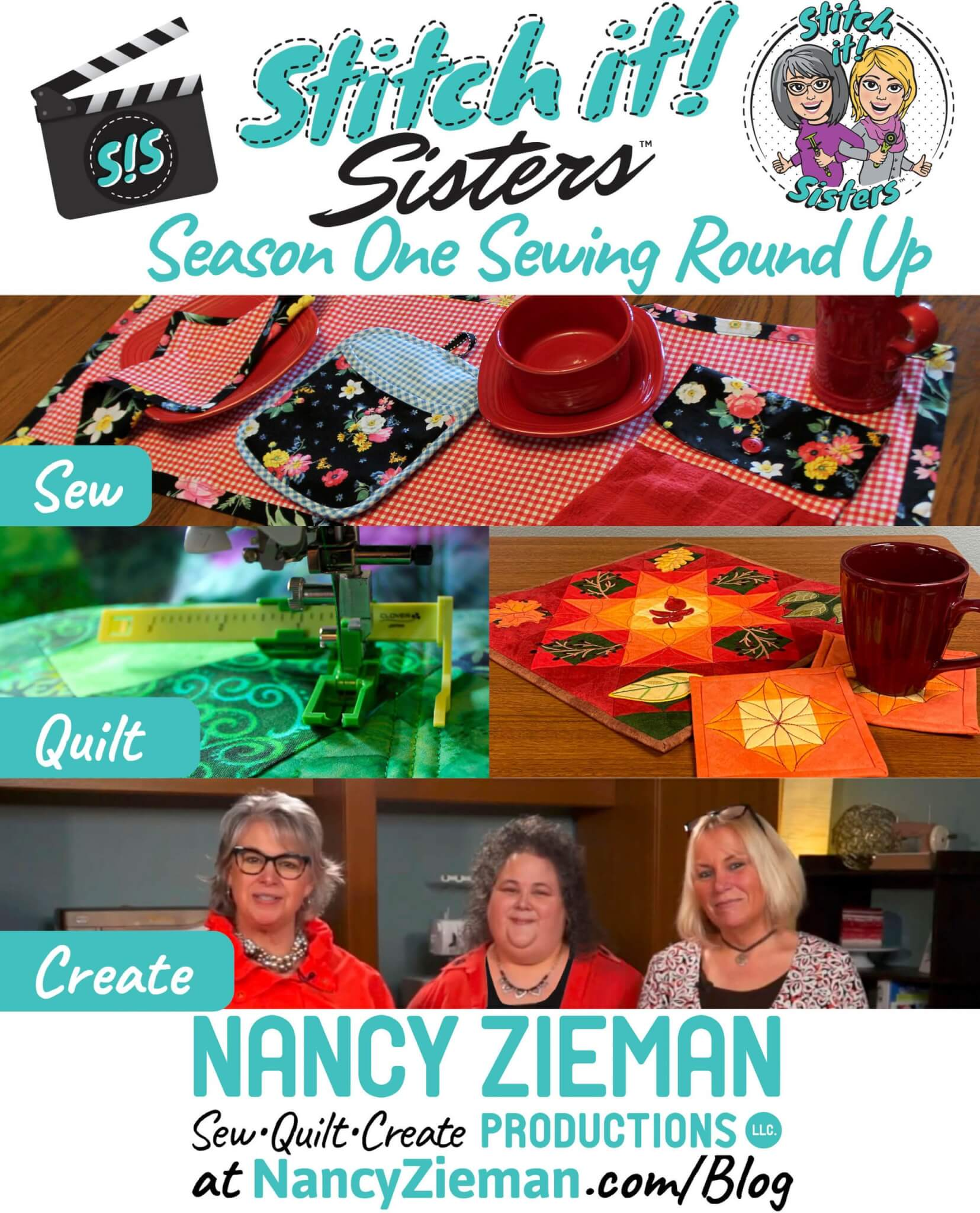 Season Stitch it Sisters SIS Season One Wrap Party and Sewing Round Up