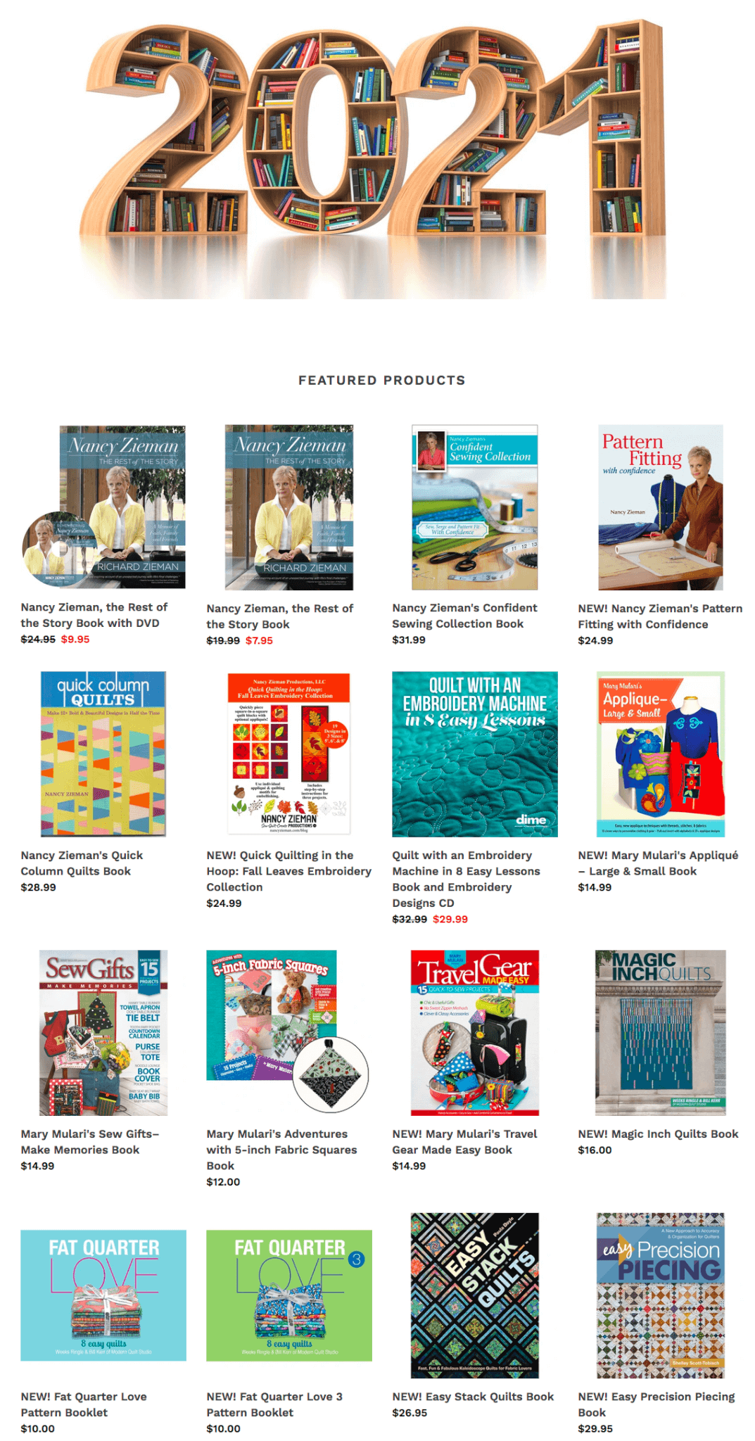 Visit ShopNZP.com to Purchase Nancy Zieman's Sewing Books