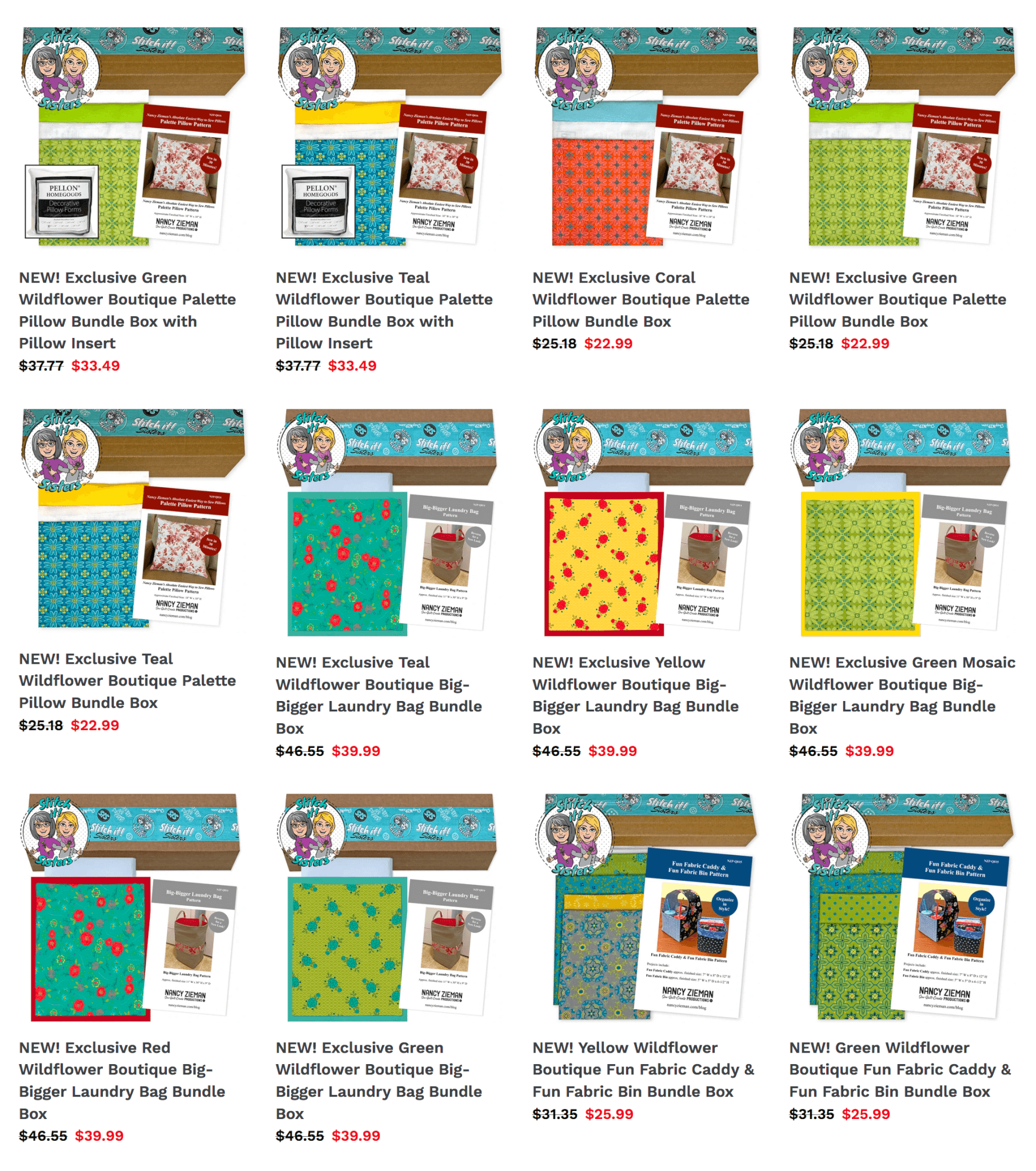 Buy Sewing Project Kits and Quilting Bundle Boxes by the Stitch it! Sisters at Nancy Zieman Productions at ShopNZP.com