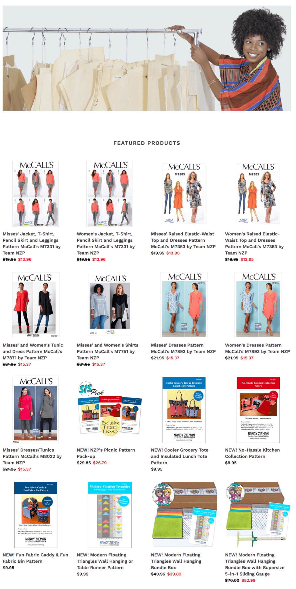 Buy Sewing Patterns by the Stitch it! Sisters at Nancy Zieman Productions at ShopNZP.com