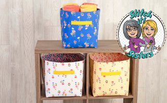 NZP Q020 Sew Organized Fabric Bin Sewing Pattern available at Nancy Zieman Productions at ShopNZP