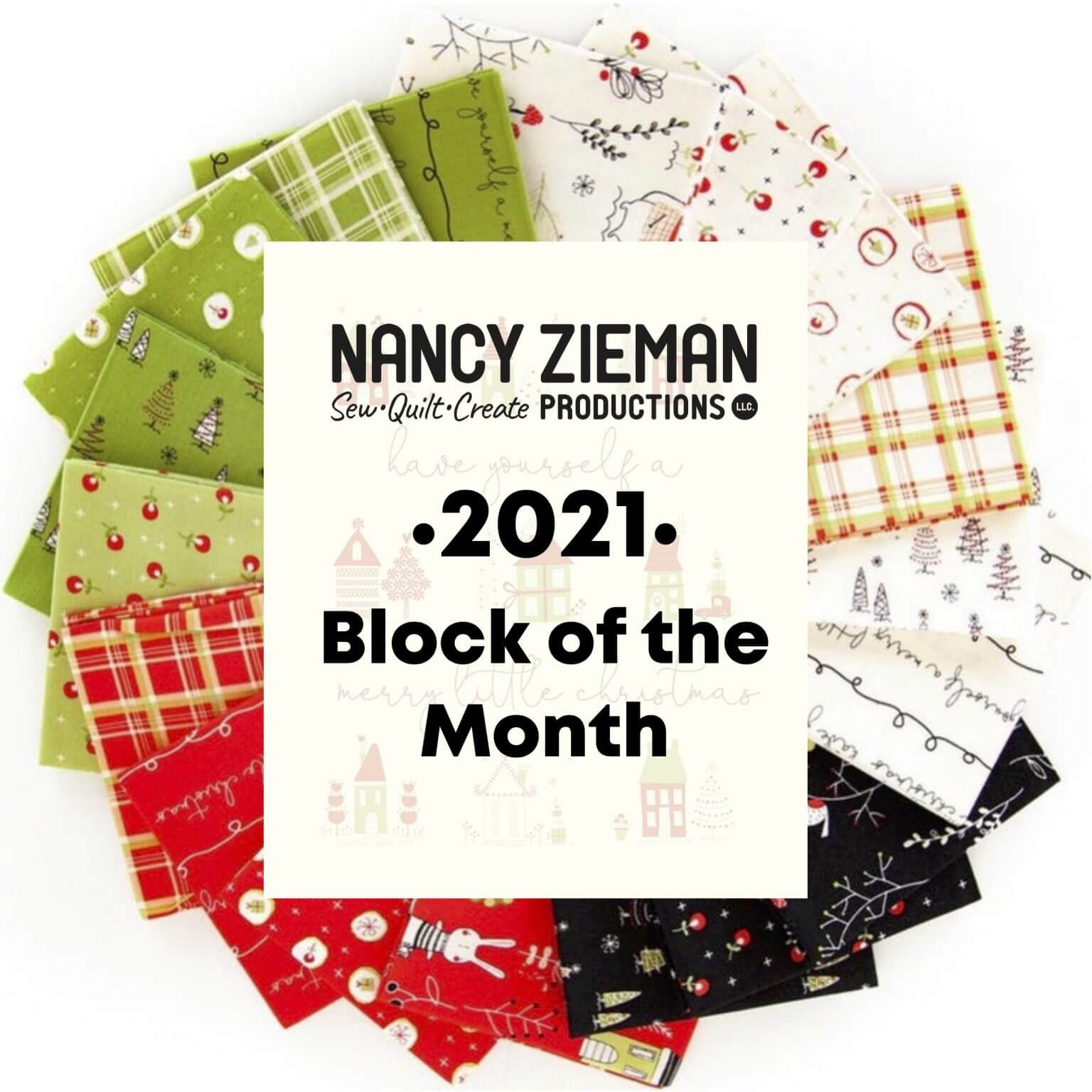 Nancy Zieman Productions 2021 Block of the Month Mystery Christmas Quilt at The Nancy Zieman Productions Blog