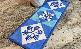 Quick Quilting in the Hoop Winter Snowflakes Embroidery Collection Mini Wall Quilt scaled