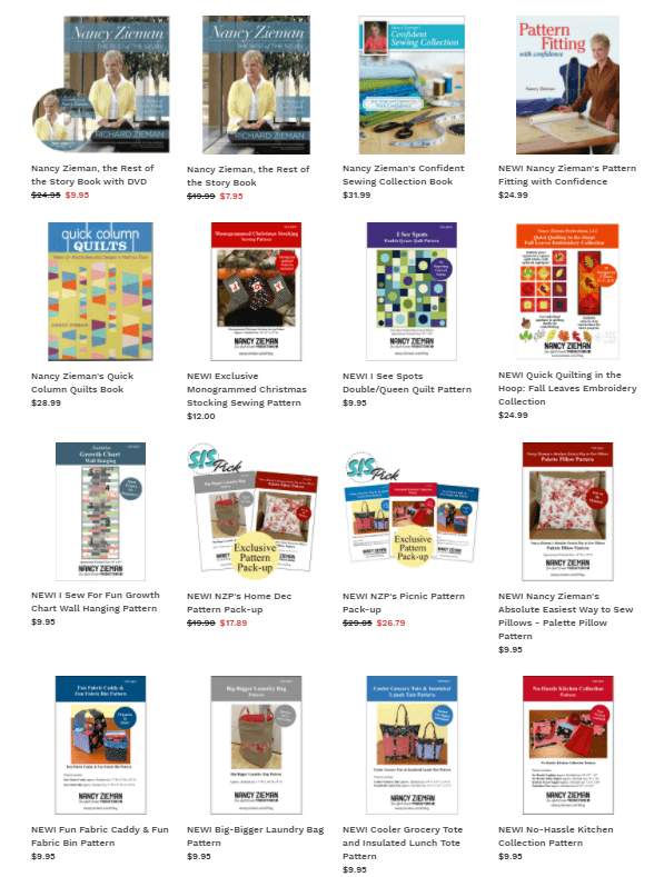 Books and Patterns available at ShopNZP.com by Nancy Zieman Productions