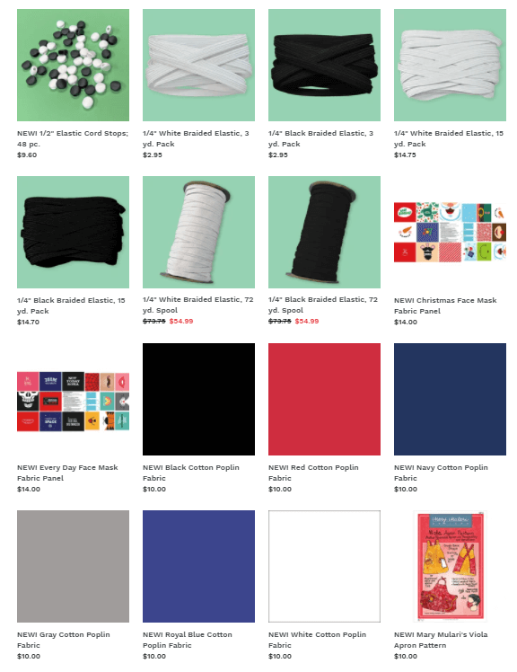 Fabric Face Covering Supplies available at ShopNZP.com by Nancy Zieman Productions