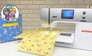 Sew Organized Fabric Bin by the Stitch it! Sisters at The Nancy Zieman Productions Blog Feature Photo for Tutorial