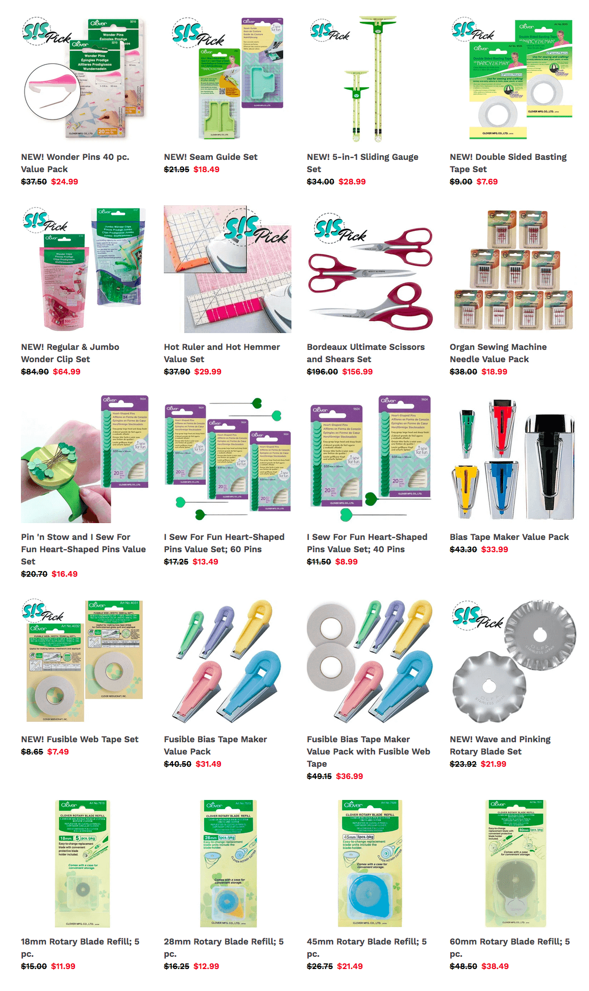 Shop Clearance Fabric and Sewing Supplies Stock Up Sale at Nancy Zieman Productions at ShopNZP.com