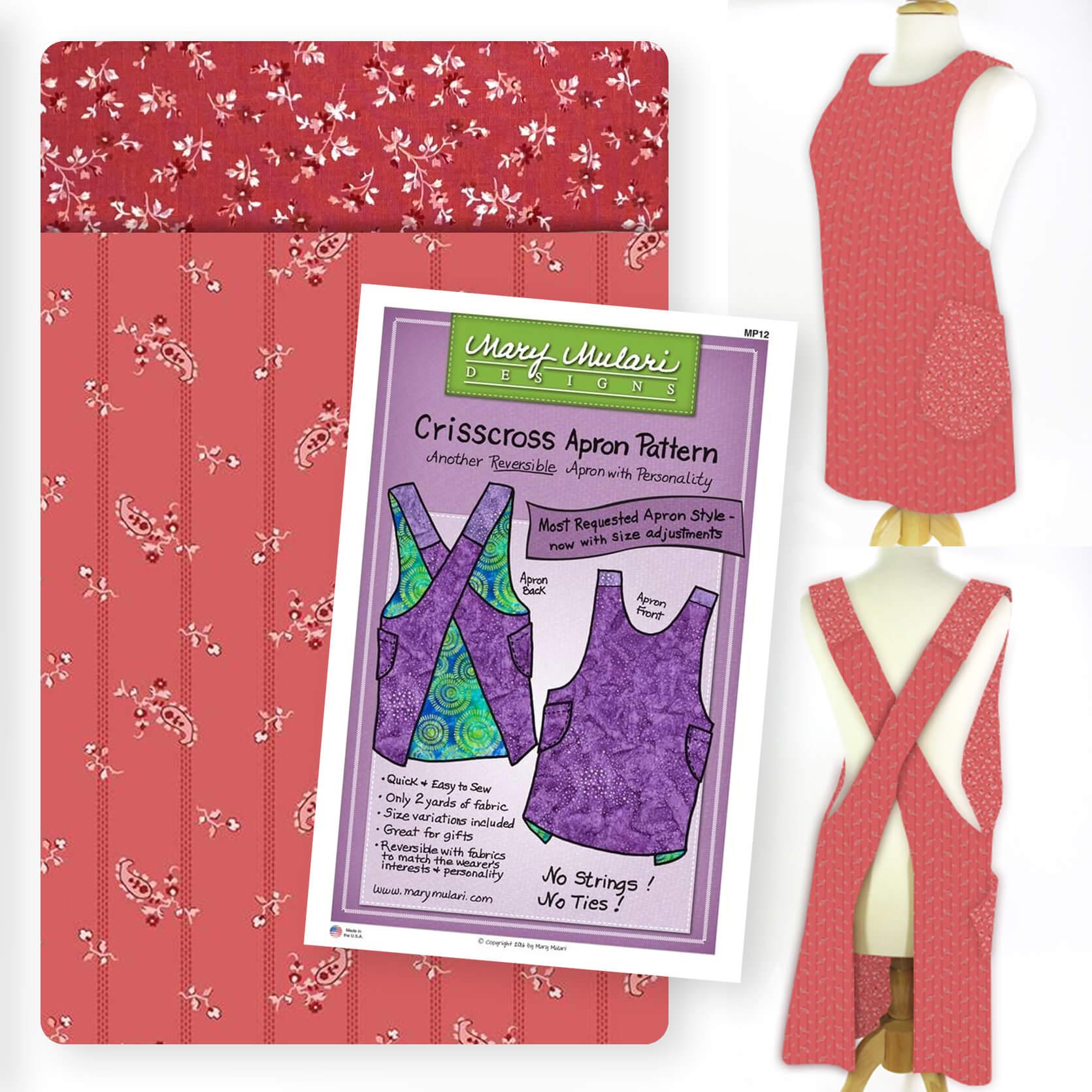 VDBCAB_01 Valentines Day Berry Crisscross Apron Bundle available at Nancy Zieman Productions at ShopNZP.com