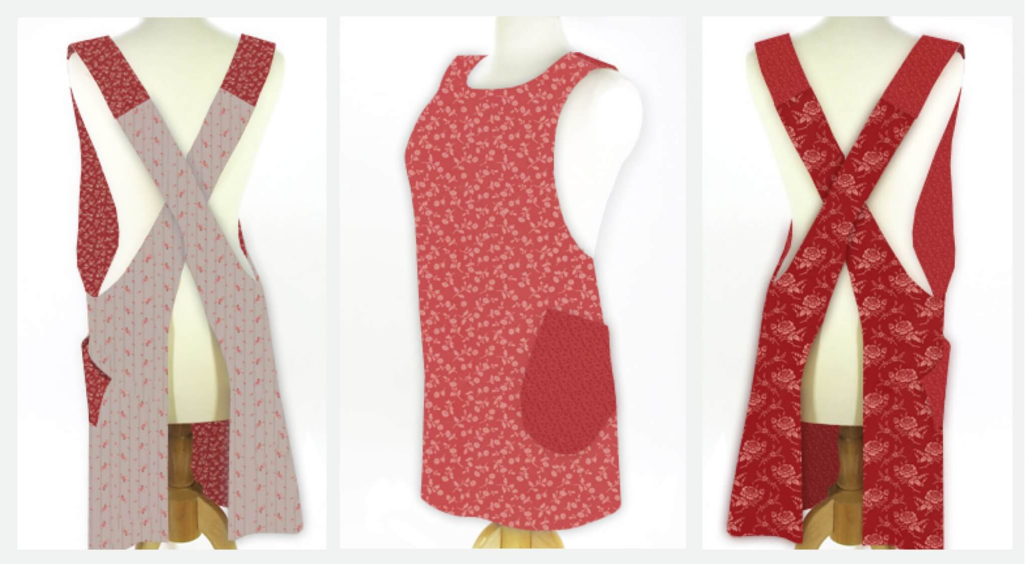 Valentines Day Crisscross Apron Sewing Project Bundles by Nancy Zieman Productions available exclusivley at ShopNZP.com