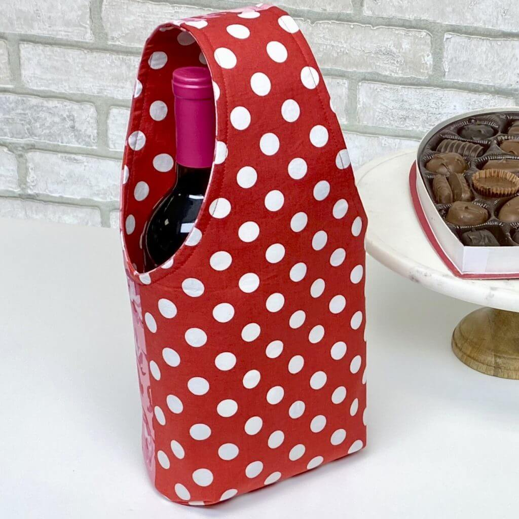 Valentines Day Wine Tote Sewing Tutorial at The Nancy Zieman Productions Blog