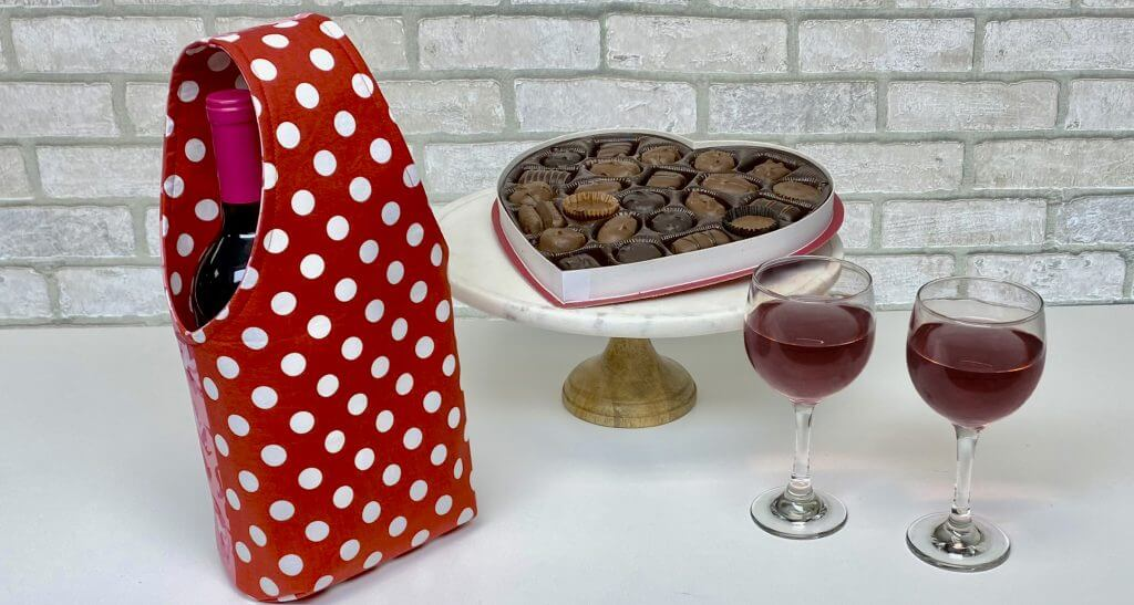 Valentines Day Wine Tote Sewing Tutorial at the Nancy Zieman Productions Blog 2