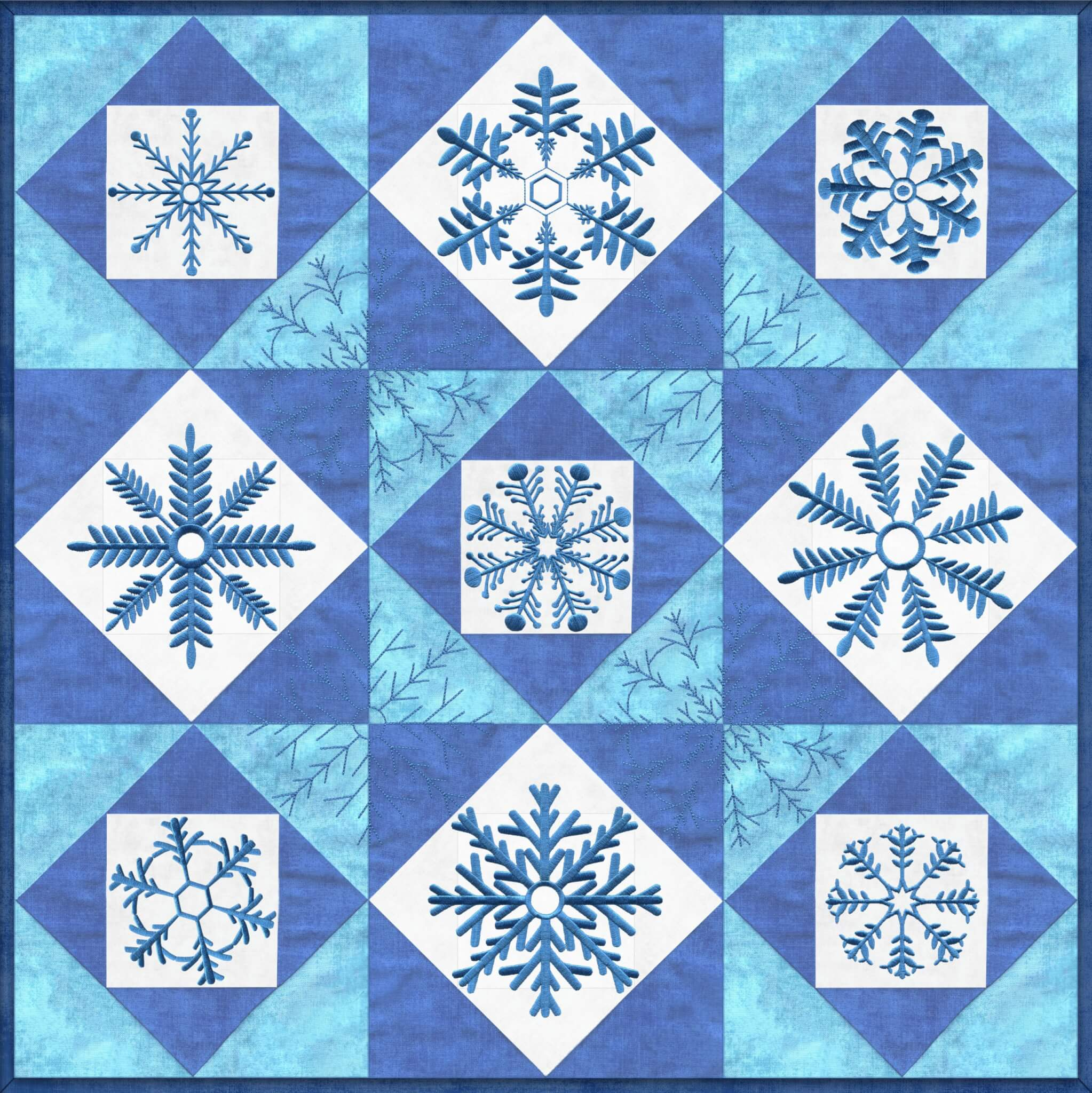 Quick Quilting in the Hoop: Winter Snowflakes Wall Hanging Bundle Box at ShopNZP.com