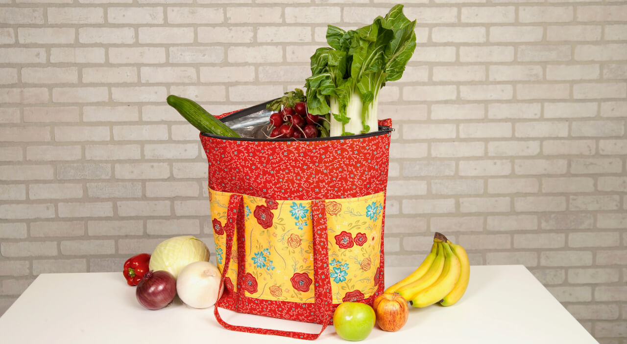 Cooler Grocery Tote Sewing Tutorial Video by The Stitch it! Sisters at The Nancy Zieman Productions Blog