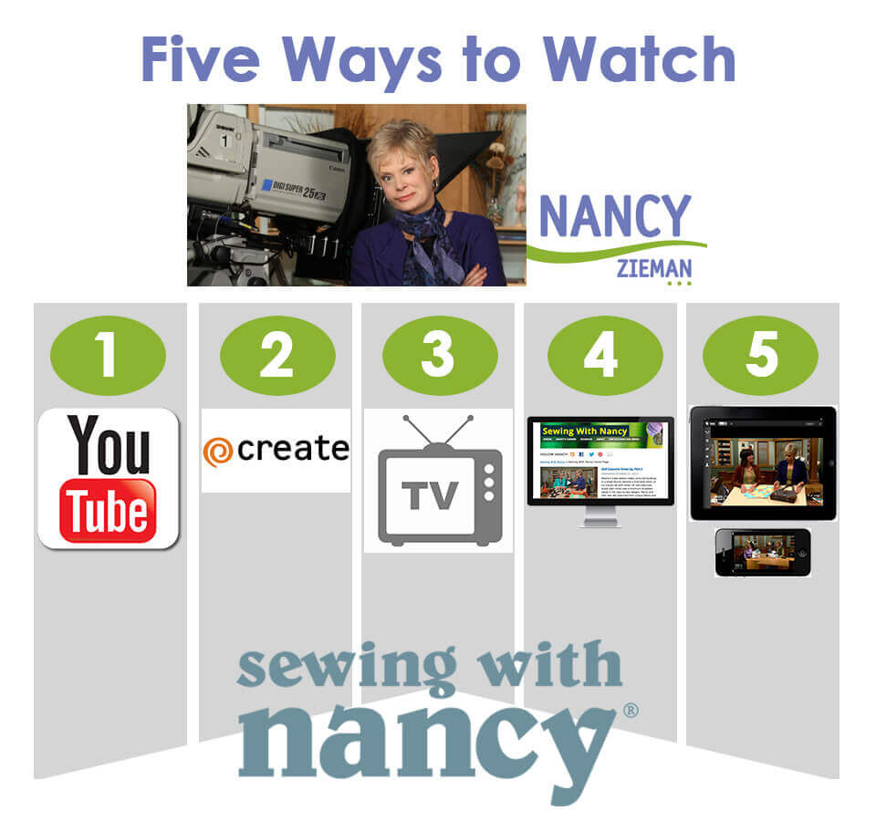 Five Ways To Watch Sewing With Nancy at The Nancy Zieman Productions Blog