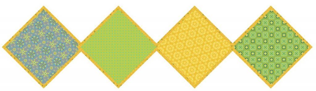 Exclusive Green & Yellow Wildflower Boutique No-Hassle Napkin and Table Topper Sewing Project Bundle Box available at Nancy Zieman Productions at ShopNZP.com