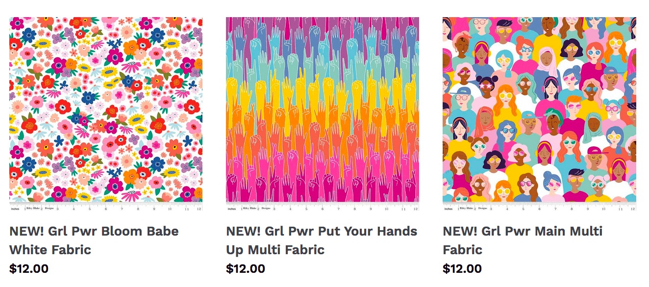 New Girl Power Fabrics Now Available at Nancy Zieman Productions at ShopNZP.com