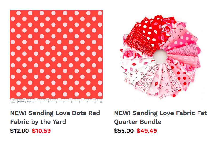 New Valentine's Day Fabrics Now Available at Nancy Zieman Productions at ShopNZP.com