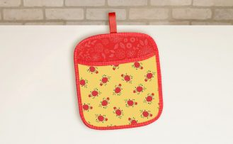 No-Hassle Potholder Plus wtih a Pocket Sewing Tutorial and Bias Tape Sewing Tips at The Nancy Zieman Productions Blog