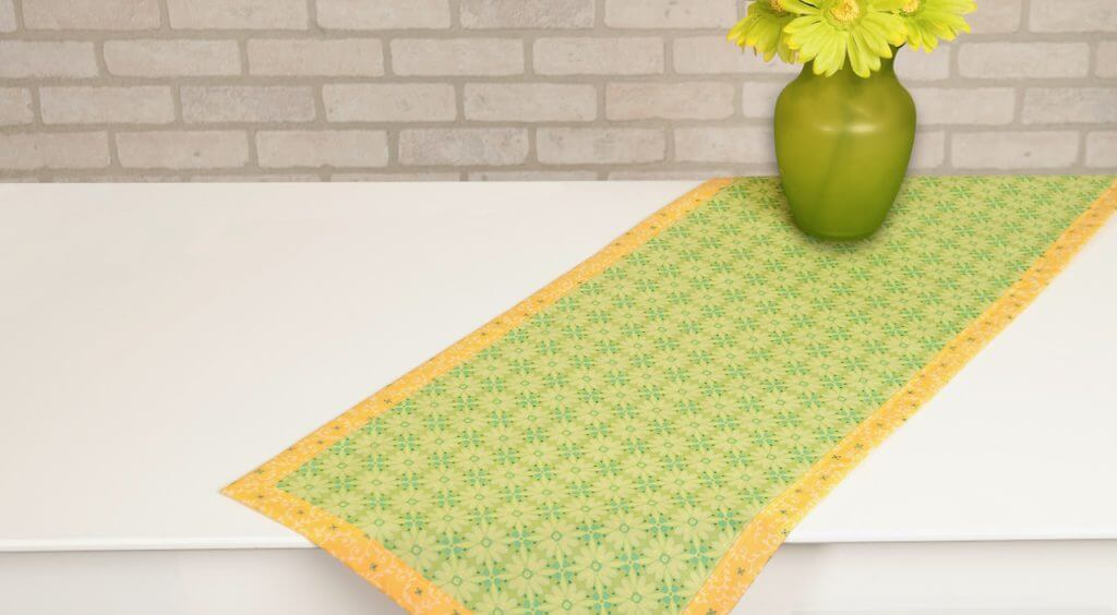 No-Hassle Table Topper Sewing Tutorial at The Nancy Zieman Productions Blog Feature