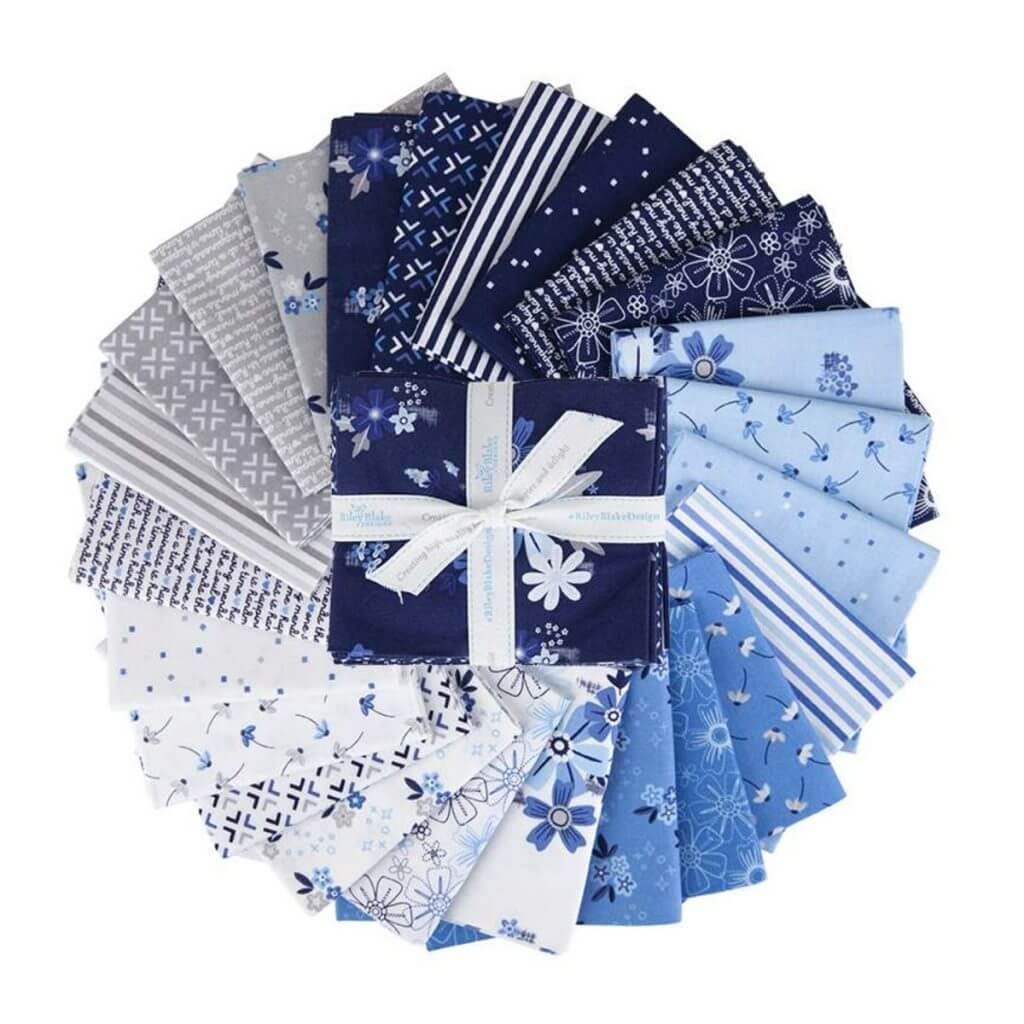 Blue Stitch Fabric Fat Quarter Bundle available at Nancy Zieman Productions at ShopNZP.com